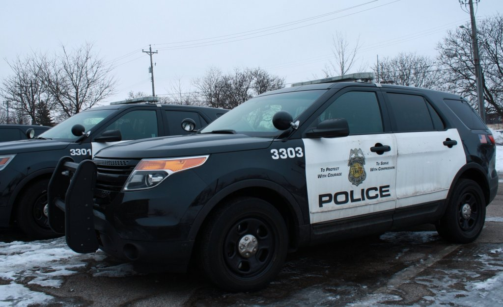 Minneapolis police squad car.