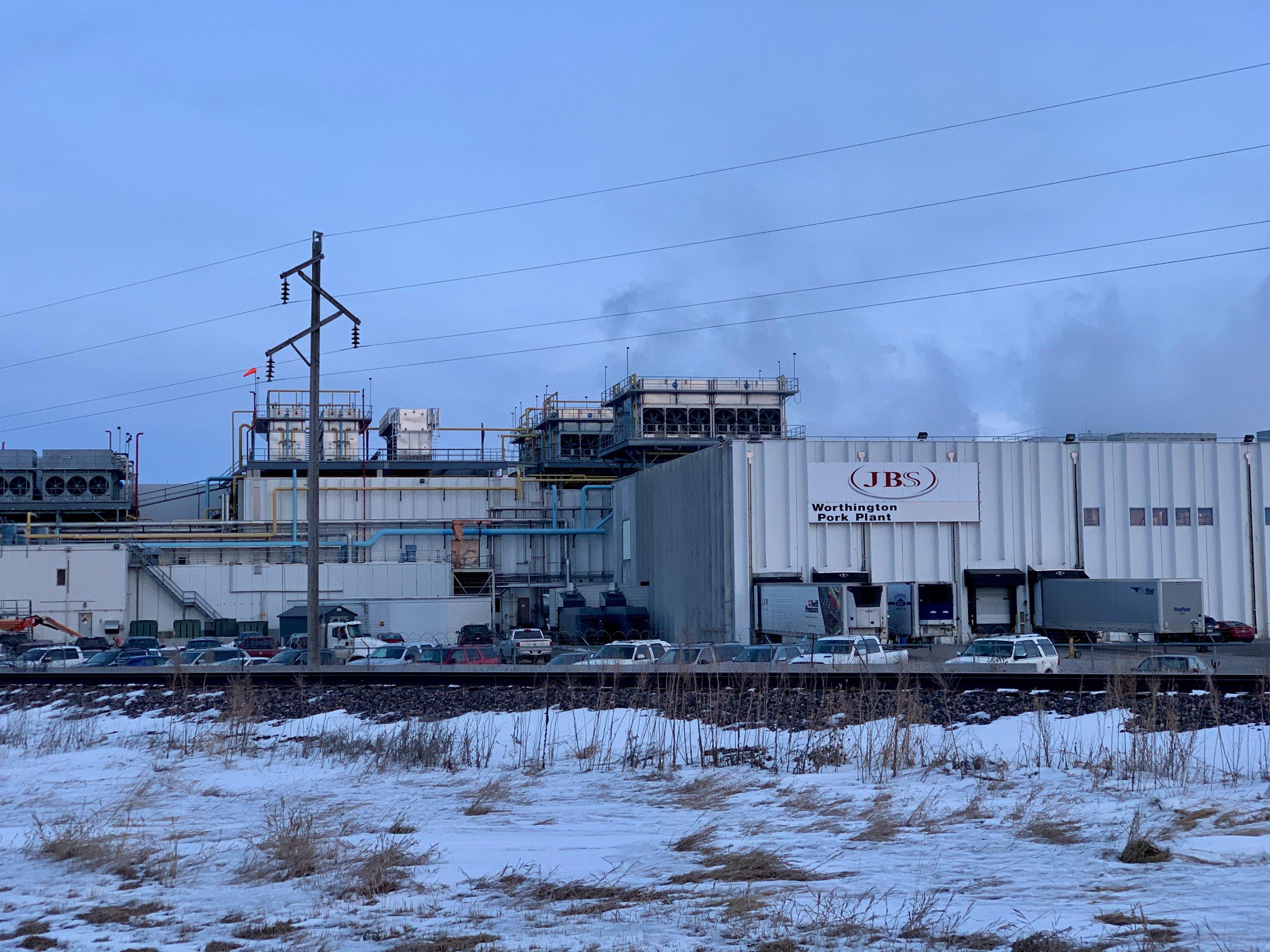 JBS pork processing plant in Worthington