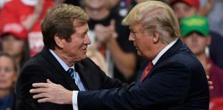 U.S. Rep. Jason Lewis, R-2nd District, and President Donald Trump
